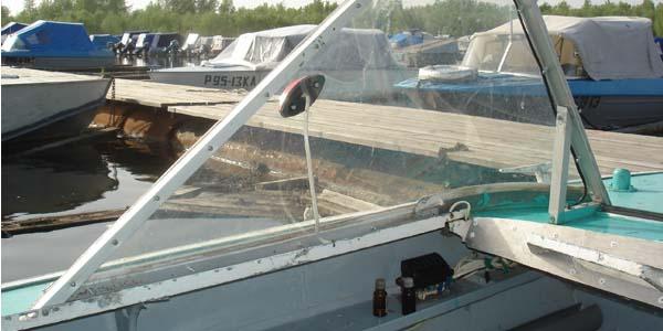 Изготовление лобового стекла на лодку своими руками 3