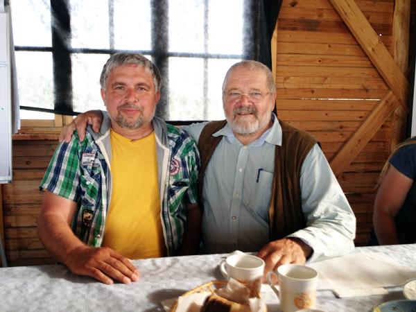 Зепп Хольцер справа, Коробов Павел слева