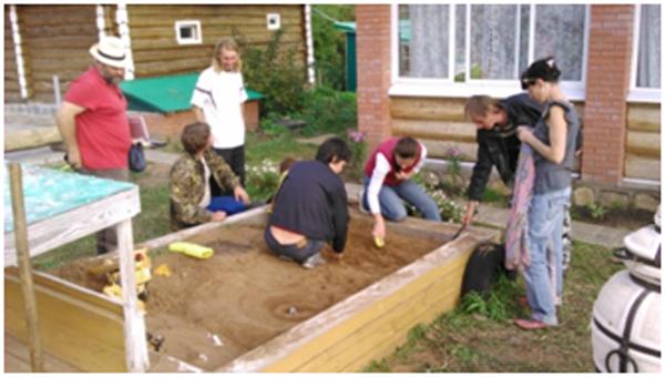 Макетирование кратерного сада