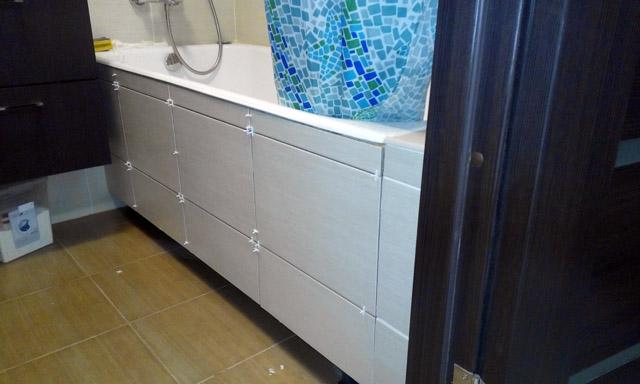Экран для ванной. Внешний вид