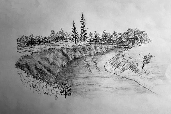 река пейзаж